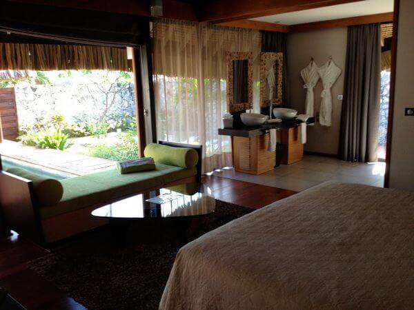 Garden bungalow interior, Kia Ora Resort, Rangiroa, French Polynesia