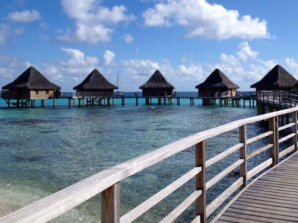 Overwater bungalows, Kia Ora Resort, Rangiroa, French Polynesia