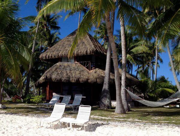 Beachfront bungalows, Kia Ora Resort, Rangiroa, French Polynesia