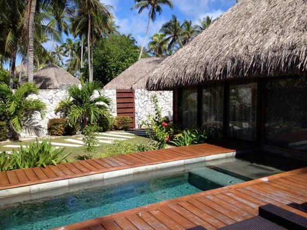 Garden bungalows, Kia Ora Resort, Rangiroa, French Polynesia