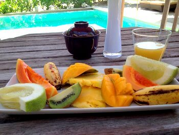 Breakfast, Green Lodge, Moorea, French Polynesia