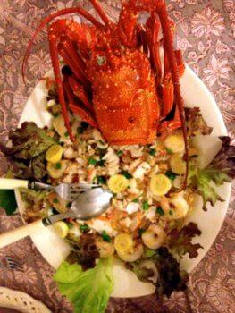 Lobster salad, Les Relais de Josephine, Rangiroa, French Polynesia