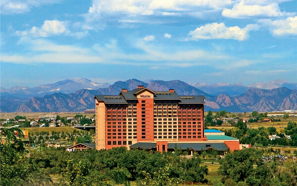 Westin Westminster set amongst the Rocky Mountains in Denver metro