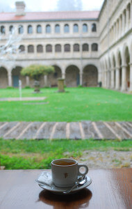 The Porteria cloister at Parador de Santo Estevo