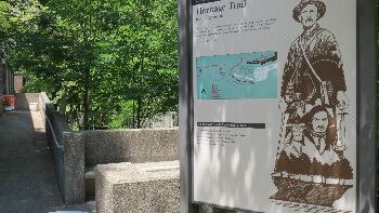 The Heritage Trail can be reached from the Mammoth Cave Hotel.