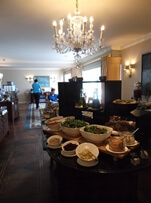 Buffet in the club lounge at Ritz-Carlton San Francisco