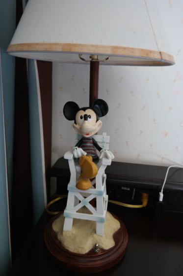 A Lamp in a room at Disney's Beach Club