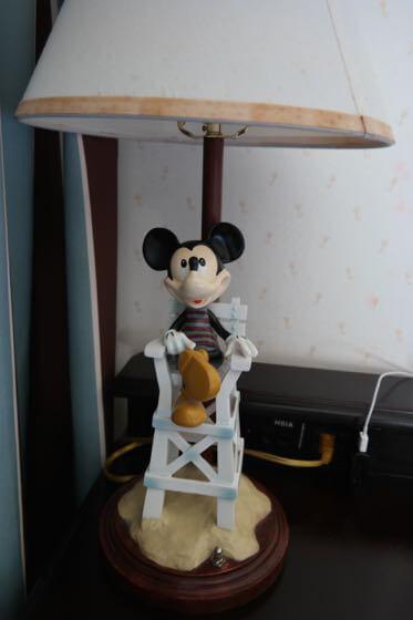 A Lamp in a room at Disney's Beach Club