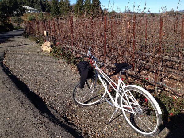 H2 Hotel bicycle in the vineyard, Healdsburg, California