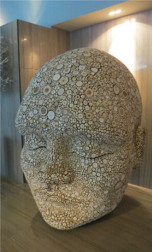Sculpture in the lobby, lounge area