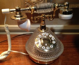 Old-fashioned phone, The Benson Hotel, Portland, Oregon