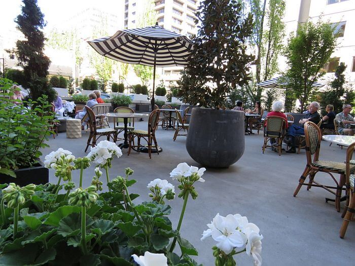 Patio at Hotel Sorrento, Seattle