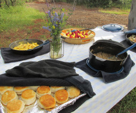 Wild Horse Sanctuary, cowboy breakfast, California,