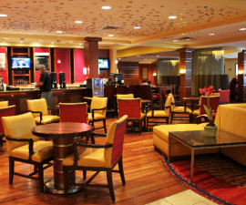 Cleveland Airport Marriott's Amp 150 lounge and restaurant