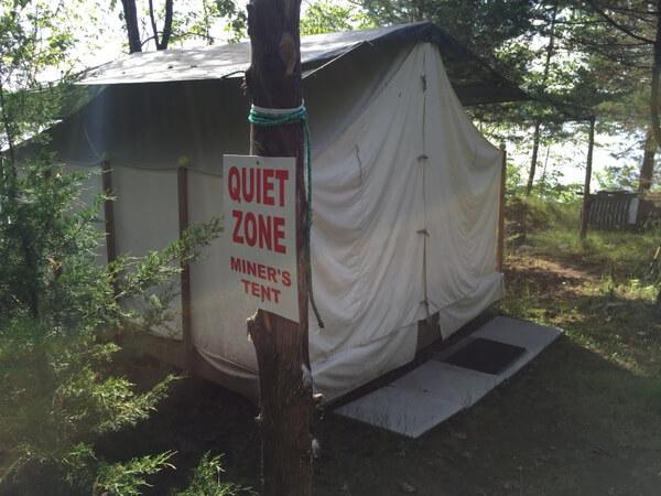 Miner's Tent, Island Spirits, Rice Lake, Ontario
