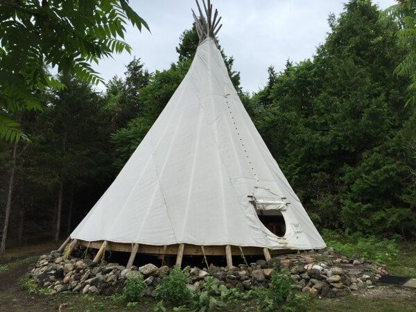 Teepee, Island Spirits, Rice Lake, Ontario