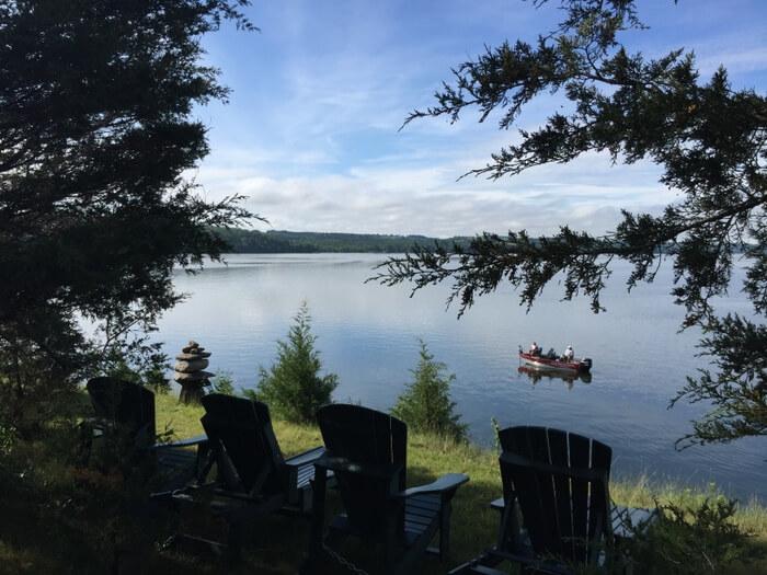 Waterfront view, Island Spirits, Rice Lake, Ontario