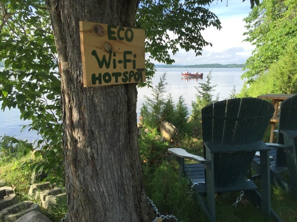 Wifi Hotspot, Island Spirits, Rice Lake, Ontario
