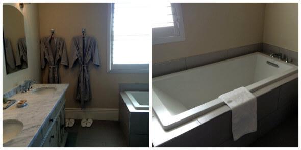 Bathroom of the Howell Mountain room