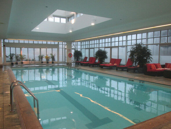 Shades of grey at fairmont hotel vancouver in canada for Indoor swimming pools vancouver