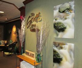 grotto spa, royal canadian lodge, banff hotel