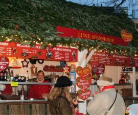 Copenhagen Christmas mulled wine and apple fritters at Tivoli Gardens