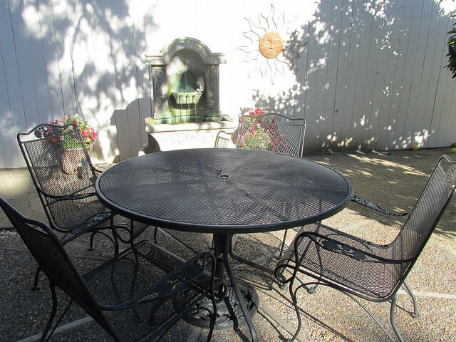patio, arbor guest house, napa, california, bed and breakfast