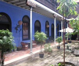 courtyard at blue mansion
