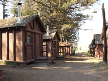 Want national parks lodging book soon for Yellowstone log cabin hotel