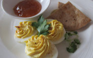 deviled eggs, fathom travel, adonia cruise ship, appetizers