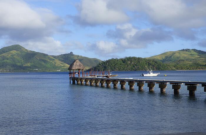Turtle Island Fiji pier