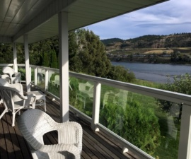 River view, South Thompson Inn, Kamloops, BC Canada