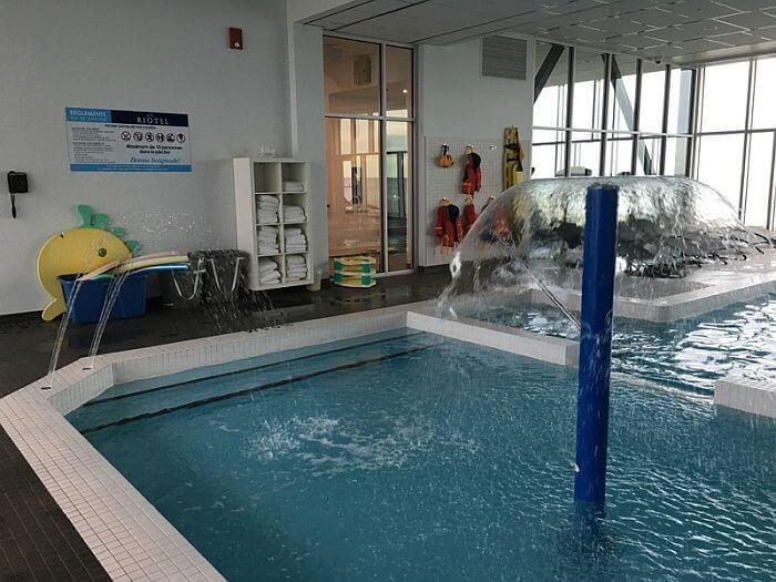 indoor pool at Riôtel Matane