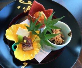 First course at Nadaman, Shangri-La Hotel Tokyo, Japan