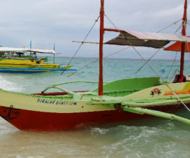 Our Bangka, outrigger boat at Puka Beach