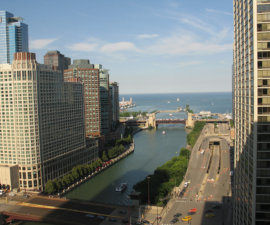 View from Hyatt Regency Chicago