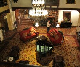 The splendid lobby of the Hotel Alex Johnson, Rapid City, South Dakota
