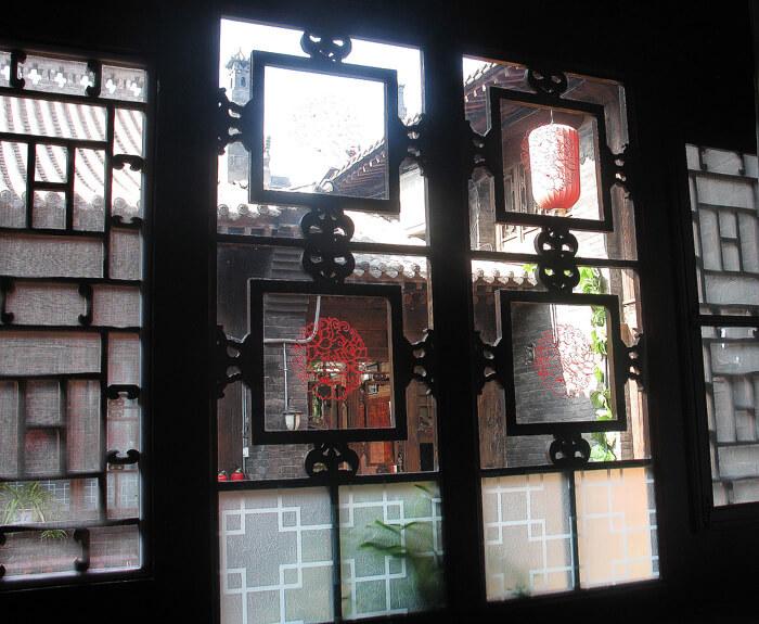 Ceiling of the Pingyao Yiguan Folklore Inn