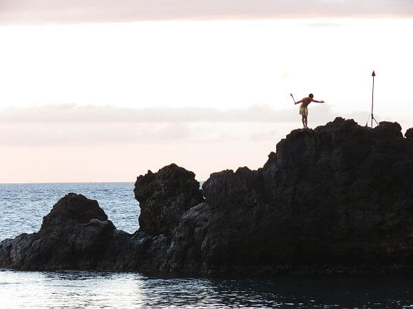 Sunset Cliff Dive Ceremony, Maui