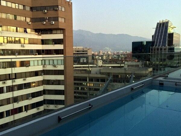 Rooftop pool, Hotel Torremayor Providencia, Santiago, Chile