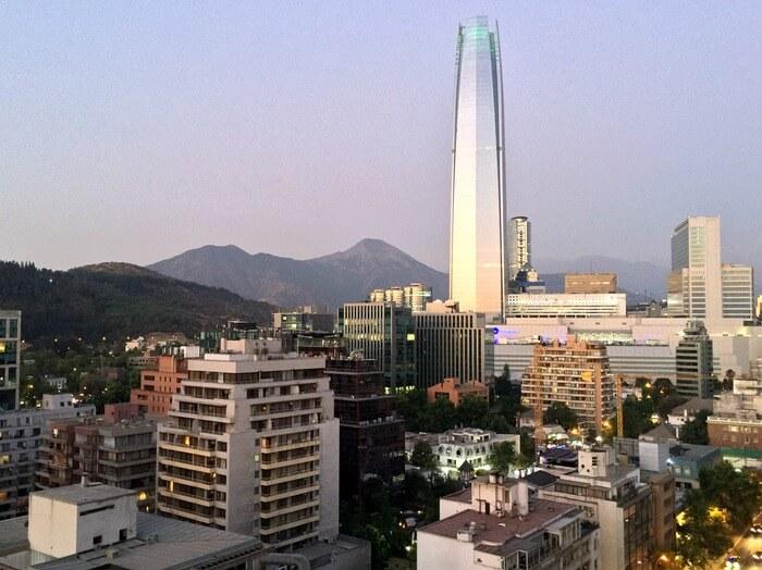 Rooftop view, Hotel Torremayor Providencia, Santiago, Chile