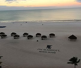 JW Marriott room with a beach view