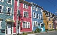 Jellybean houses, St. John's, Newfoundland,Canada