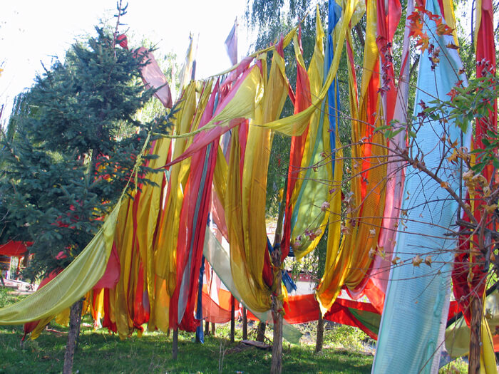 Bhuddhist prayer flags in Szechuan, China