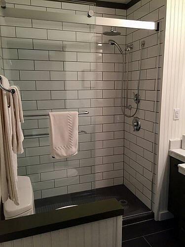 bathroom, stanford inn, mendocino, california, unique inns