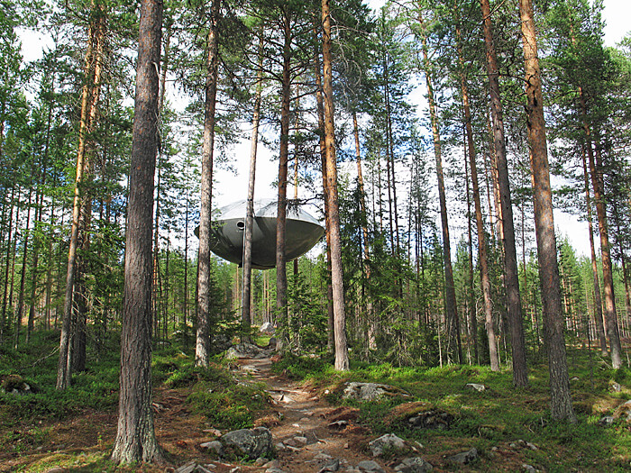 UFO at Treehotel, Sweden (Photo by Susan McKee)