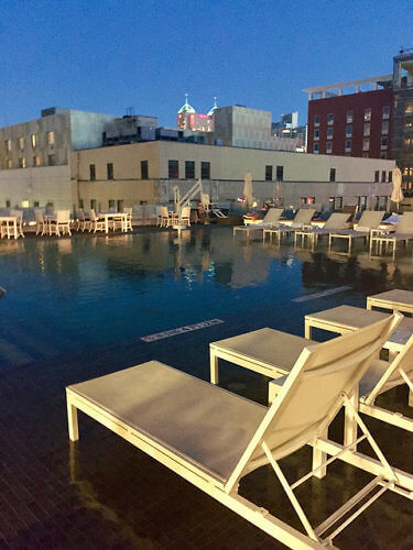 swimming pool, rooftop pool, infinity pool, st. anthony hotel, san antonio, texas