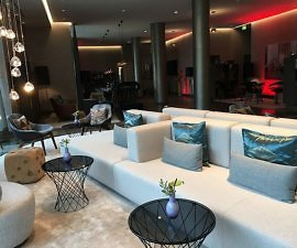 Le Meridien Hamburg lobby furnishing