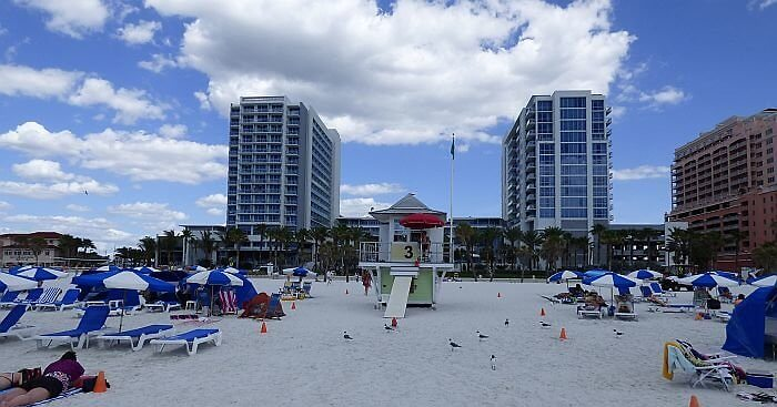 Wyndham Grand Clearwater from Beach