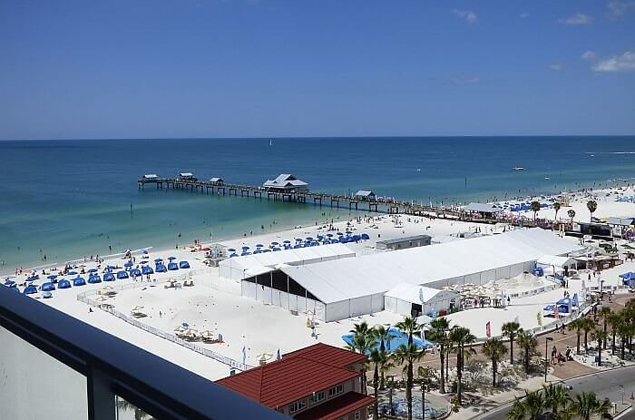 Clearwater Beach view from Wyndham Grand
